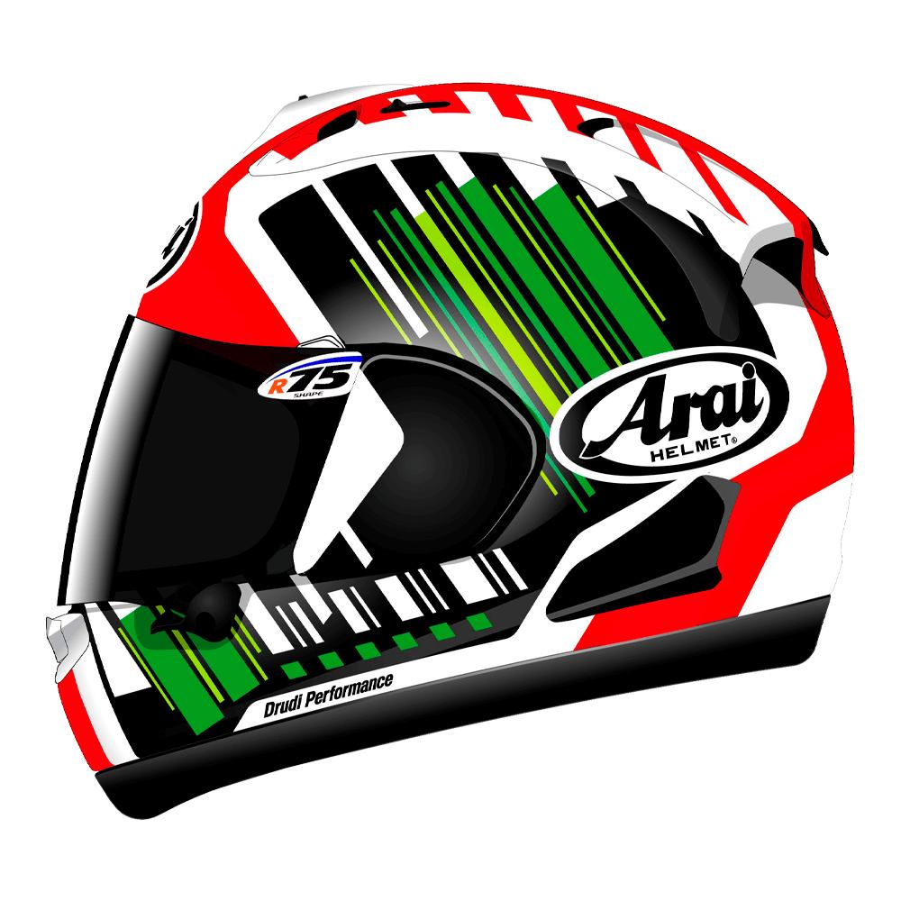 17907016 Arai RX-7V Rea Green | Motorcycle Helmets | Arai Helmets UK