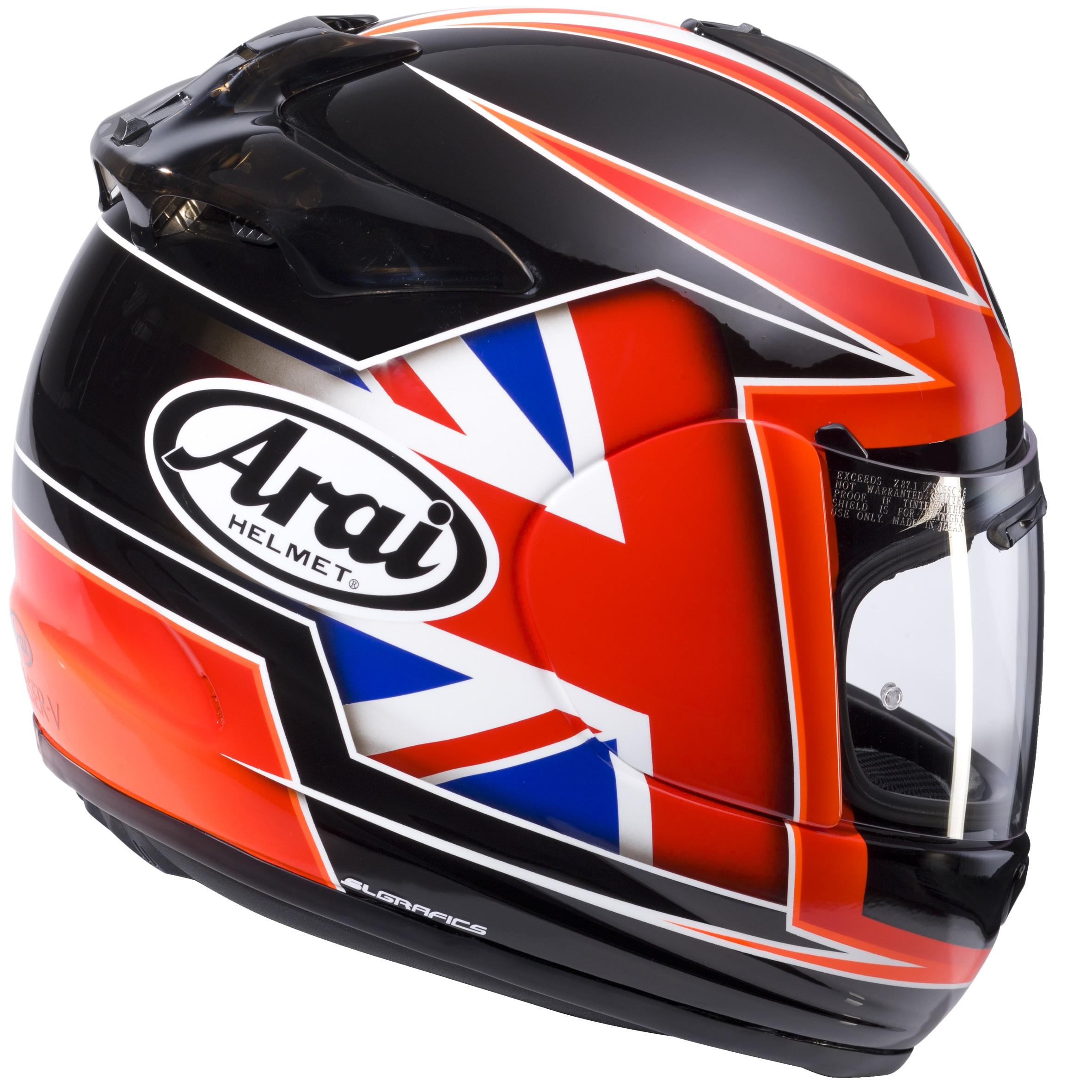 arai chaser v flag full face motorcycle helmet