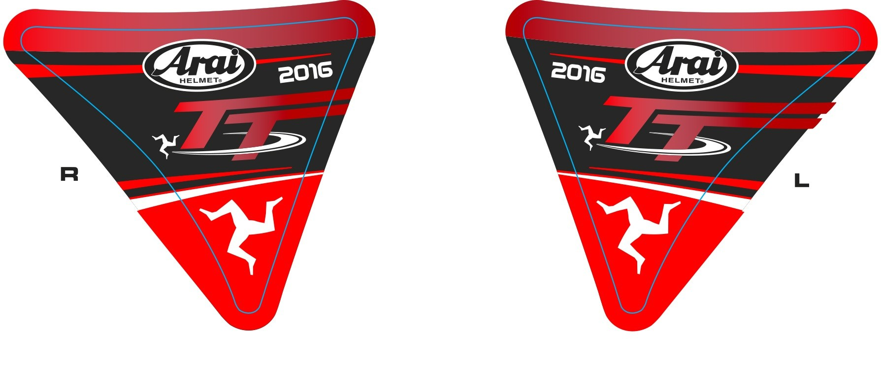 Arai Isle of Man TT Visor Stickers 2016