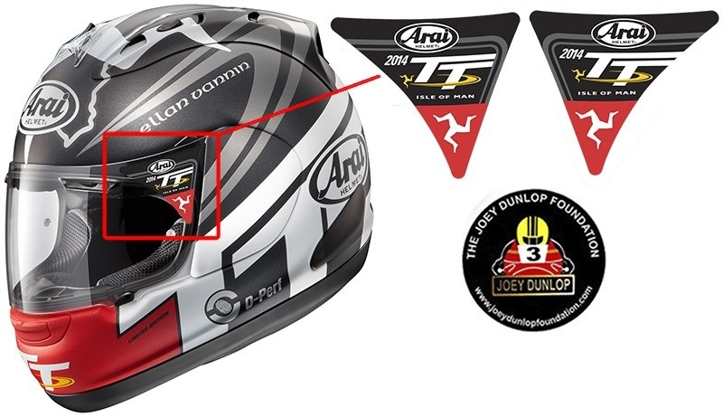 Isle of Man 2014 Visor stickers