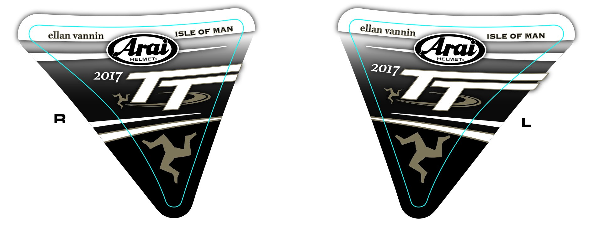 Isle of Man 2017 Visor stickers