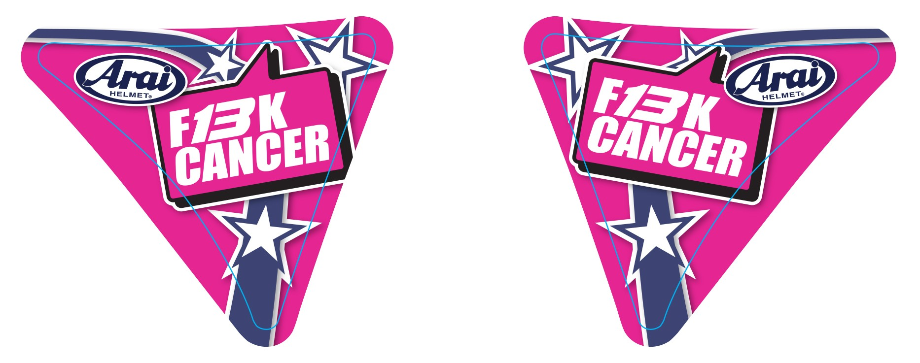 F13K Cancer Charity Visor Sticker
