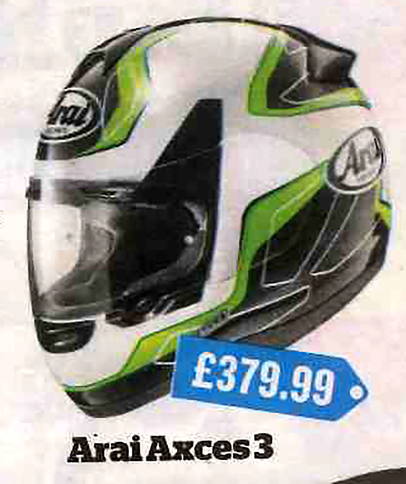 Arai Axces 3 feature in MCN