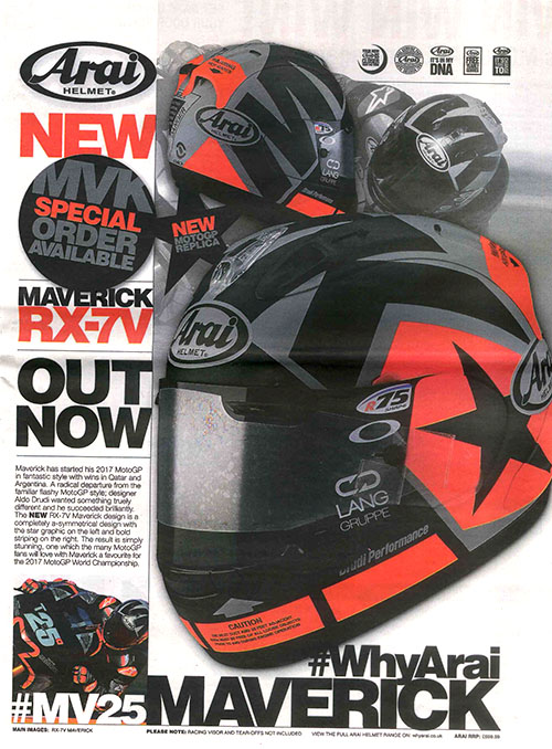 The NEW Arai RX-7V featured in MCN