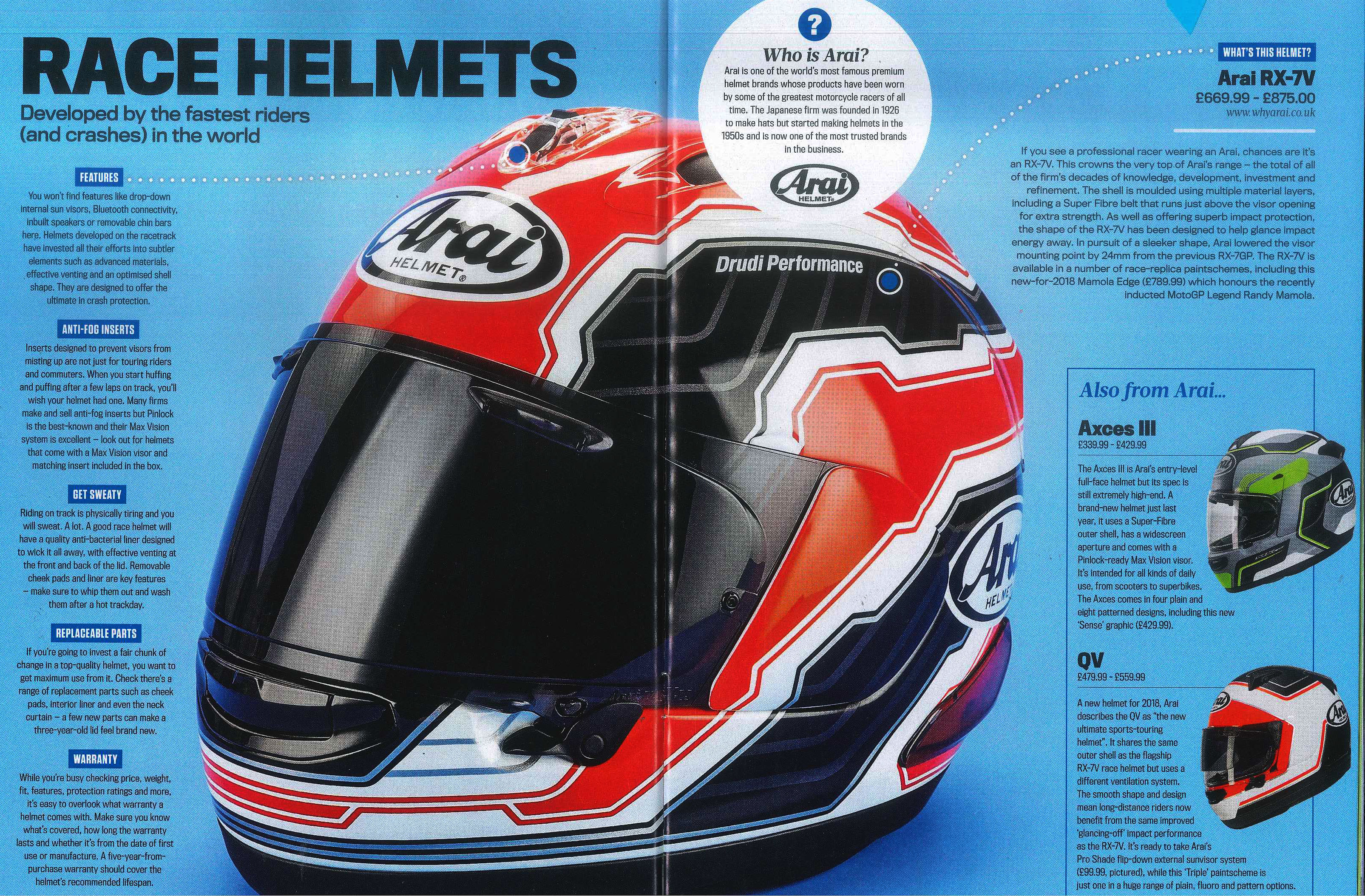 7bbdb4a3 ARAI Media Features. Suppliers of Motorcycle Leathers, Textiles ...