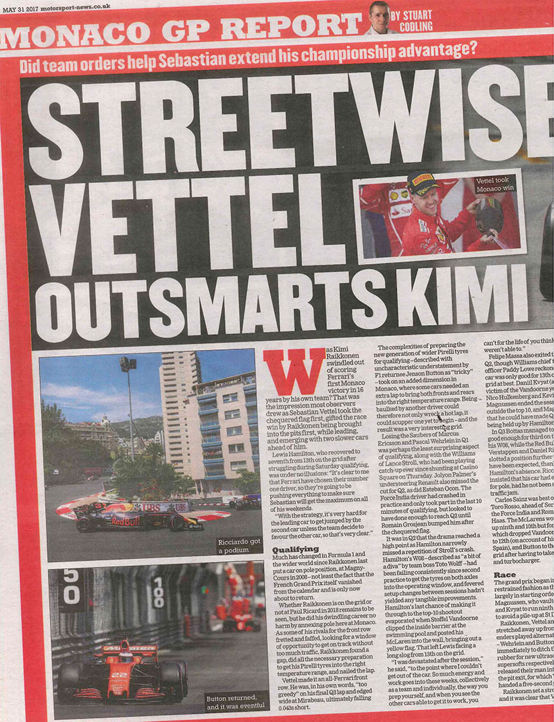 Streetwise Vettel outsmarts Kimi
