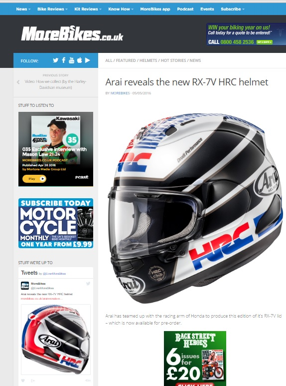 a3170c35 ARAI Media Features. Suppliers of Motorcycle Leathers, Textiles ...