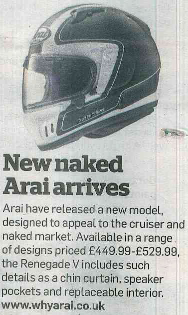 Check out Arai's new arrival in MCN