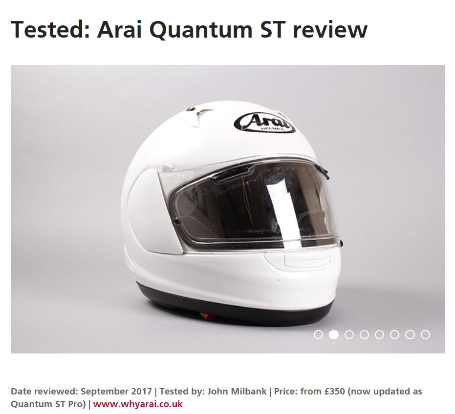 Arai Quantum ST Helmet Review