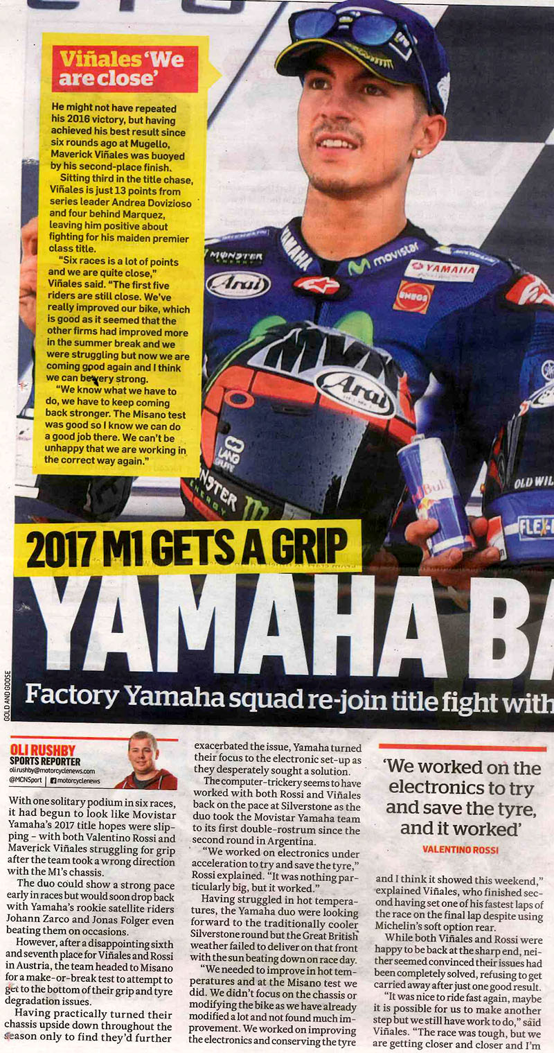 Yamaha back on form