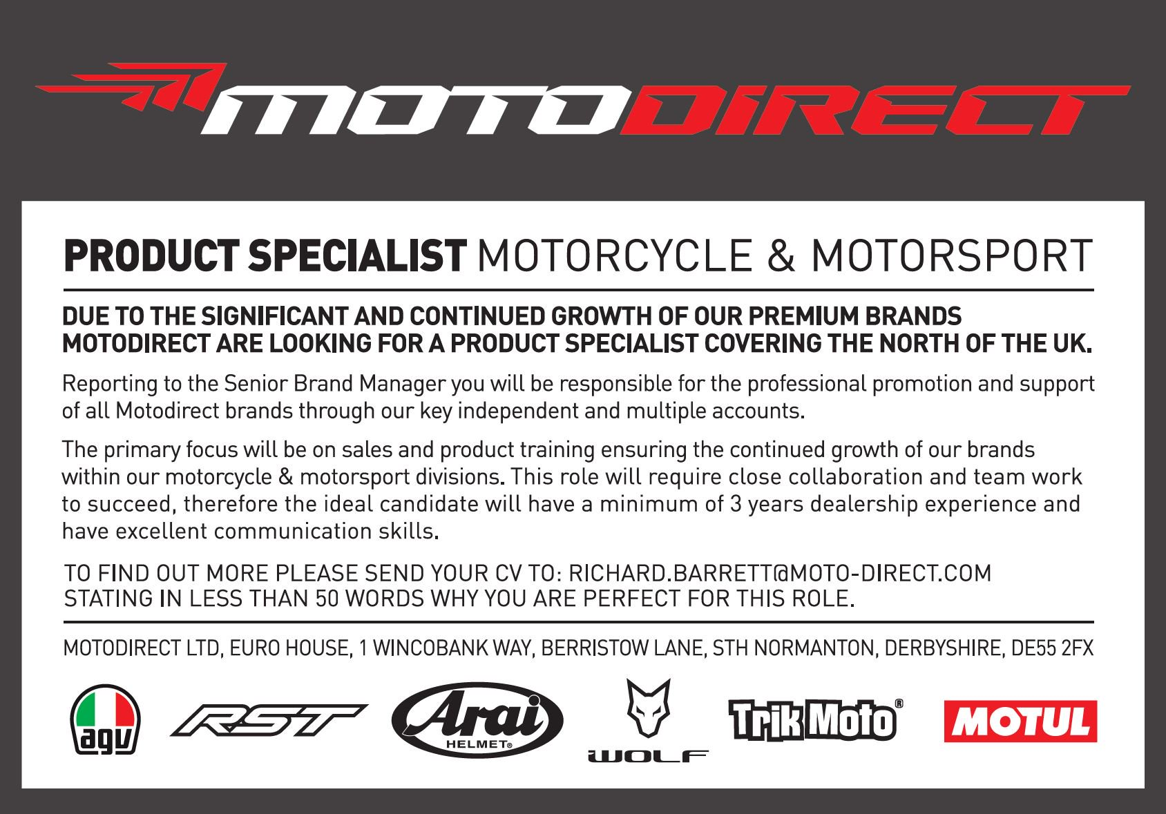 Product specialist wanted.