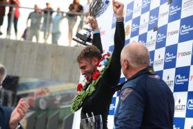 BRDC 'Rising Star' Jake Hill takes victory in the International Trophy for Pre'66 Classic GT Cars on his Silverstone Classic debut