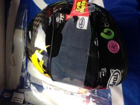 Bruce Ansteys RX7-RC. The fastest helmet at the IOMTT 2014