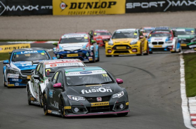 Smiley has podium success in the latest round of BTCC of at Donington
