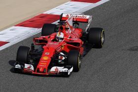 Vettel Fastest in FP1 at Bahrain ahead of Red Bulls