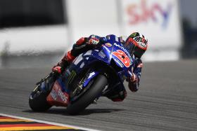 Vinales takes thirds spot as both Yamaha riders finish on the podium.