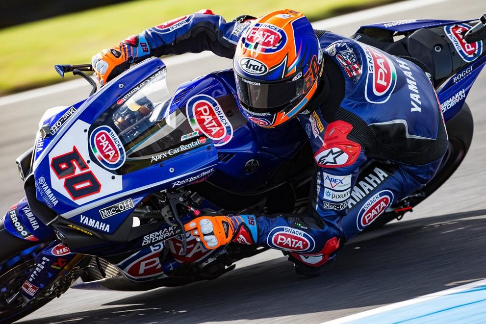 Pata Yamaha Show Fighting Spirit in Race 1 at Phillip Island