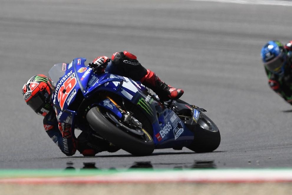 Maverick struggles to match the pace at the Gran Premio d'Italia Oakley