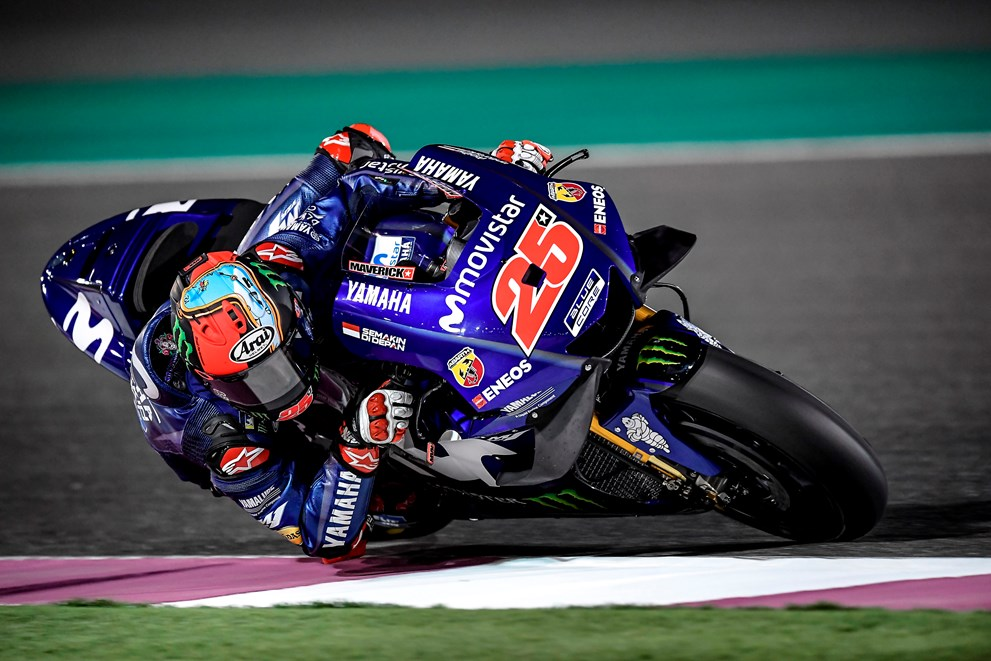 Movistar Yamaha Get Testing Underway in Qatar